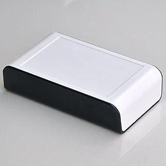 electronics-salon Desktop Instrumentación Proyecto Caja de almacenaje, color blanco y negro, 110 x 65 x 28 mm.: Amazon.es: Industria, empresas y ciencia