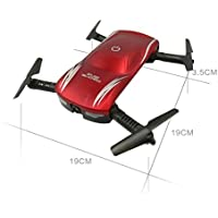 Owill 2.4G Altitude Hold HD Camera WIFI FPV RC Quadcopter Pocket Drone Selfie Foldable (Red)