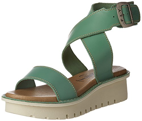 FLYA4|#Fly London Kiba465fly, Heels Sandals para Mujer Verde (Mint 005)