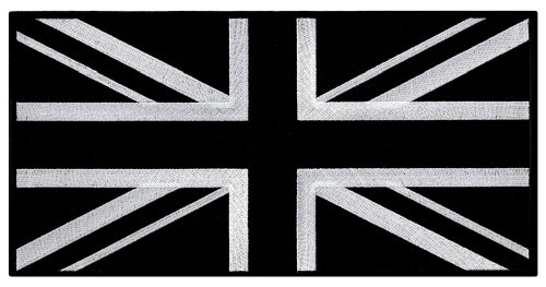 Large Black Union Jack Embroidered Patch British Flag UK Great Britain Iron-On