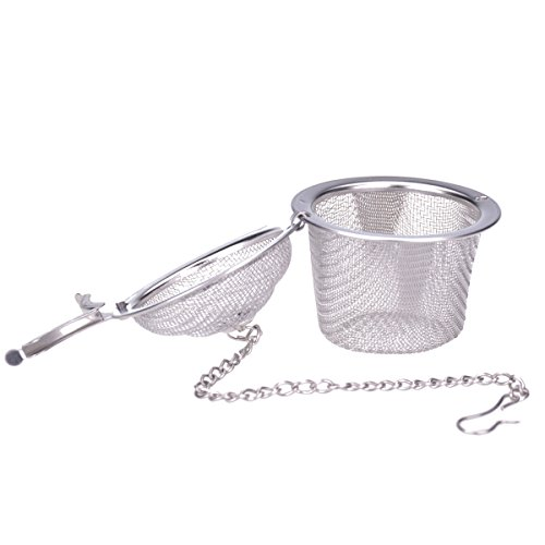 Ilyever Stainless Steel Mesh Tea Bag Strainer filter Infuser for Loose Leaf Grain Tea Cups, Mugs, and Teapots by ilyever (Image #1)'