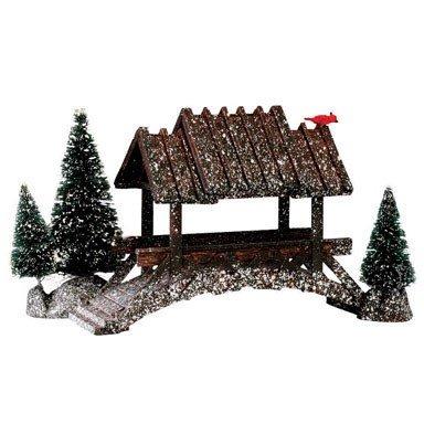Lemax 14618 Wooden Bridge Porcelain Village Accessory, 5''