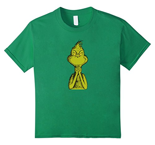 Kids Dr. Seuss Classic Sly Grinch T-shirt 4 Kelly Green for $<!--$19.99-->