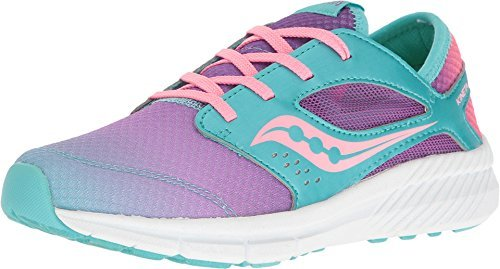 Saucony Kids Girl's Kineta Relay (Little Kid) Turquoise/Multi Athletic Shoe by Saucony Kids