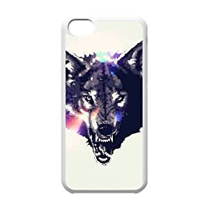 iPhone 5c Cell Phone Case White Wolf Face M2366337