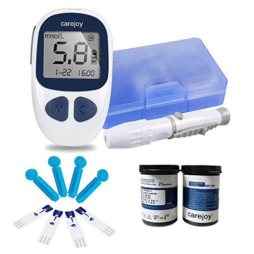 Electronic Blood Glucose Monitor Digital Glucometer Handheld Diabetes Test Meter Kit with 50 Free Test Strips