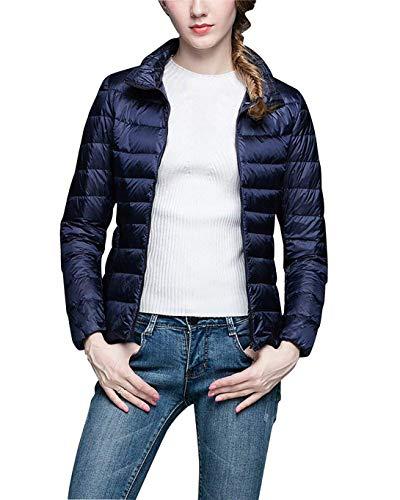 Jacket Sleeve Navy Puffer Long Vdual Down Winter Women Jacket Packable Lightweight wzxEa7vq