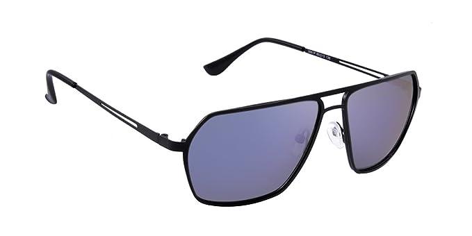 db2c908745 Mac V Square Polarized Blue Mercury D Lens Unisex Sunglasses (Black ...