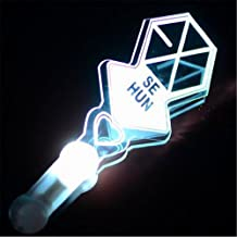 EXO Kpop Light stick Official style Fans support of vocal concert + 2 Pieces of EXO silicon wristband