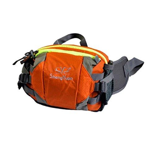 LF&F Backpack Camping Outdoor Rucksäcke Daypacks Sporttaschen Outdoor-Klettertaschen Umhängetaschen Männer und Frauen universell multifunktionale tragbare Taschen Reiten Camping Freizeit-Rucksack orange