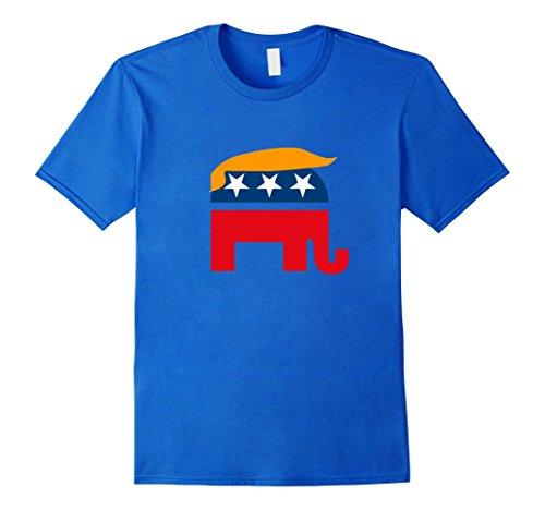 Mens GOP Donald trump Republican Elephant Shirt Large Royal (Gop Republican Elephant)