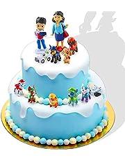 Taartfiguren, 12-delige minifiguren, taartdecoratie, cupcake-figuren, cake-topper, taartdecoratie, verjaardagsfeest, cupcake-figuren, feesttaart decoratie leveringen, taartdecoratie jongen, taartdecoratie (B)