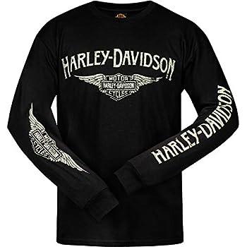 Harley-Davidson Men/'s Eagle Long Sleeve T-Shirt Black Graphic Tee 30296660