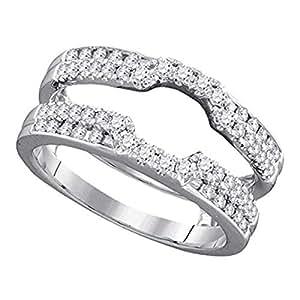 Amazon.com: Roy Rose Jewelry 14K White Gold Ladies Diamond