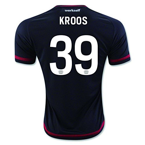 fan products of Black #39 Kroos Home Match Football Soccer Adult Jersey 2015-16