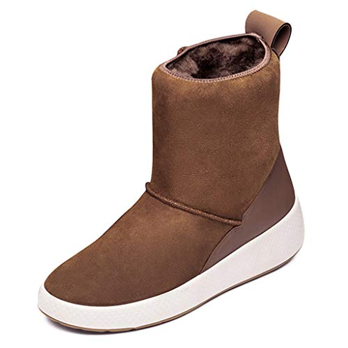 Warm E Outdoor Female Antiscivolo Camping 38 Impermeabili Casual One Winter Trekking Da Size Scarpe Boots Women Red color Fur Brown Snow gZXwqZ6
