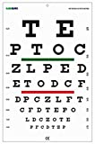 Snellen Chart with Red Green Lines 20 Feet