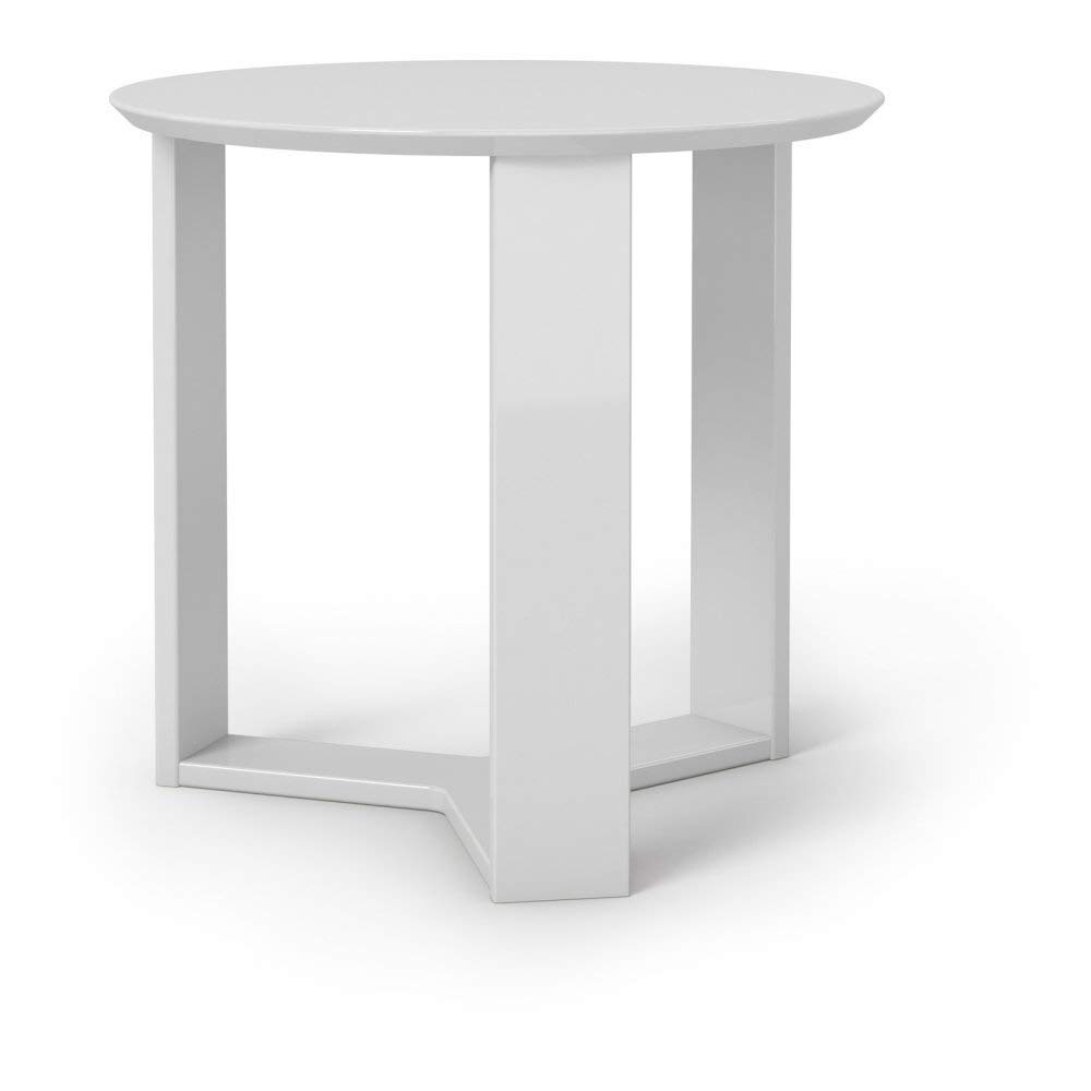 Manhattan Comforts 85151-MC Madison 2.0 Accent Side End Table White Gloss
