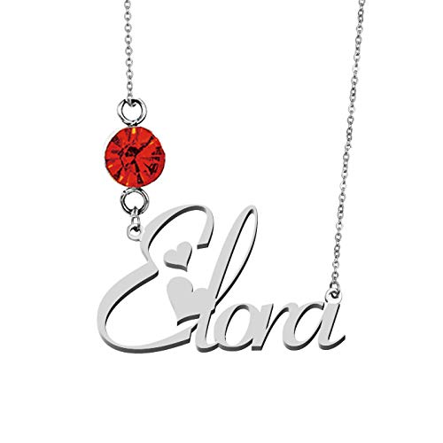 HUAN XUN Personalized Choker Necklaces Elora Birthstone -