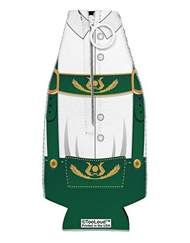 TooLoud Lederhosen Costume Green Collapsible Neoprene Bottle Insulator