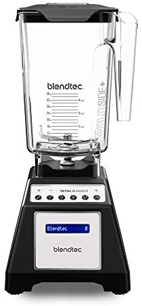 Blendtec Total Classic Original Blender - WildSide plus Jar (90 ounces) - Professional-Grade Power - 6 Pre-programmed Cycles - 10-speeds - Black (Renewed)