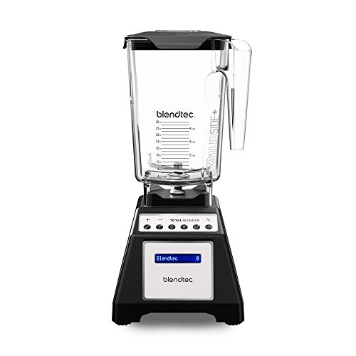 Blendtec Total Classic Original Blender - WildSide+ Jar (90 oz) - Professional-Grade Power - 6 Pre-programmed Cycles - 10-speeds - Black (Renewed) ()