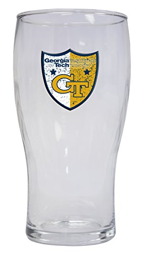 GEORGIA TECH YELLOW JACKETS 16OZ PILSNER GLASS-GEORGIA TECH BEER GLASS