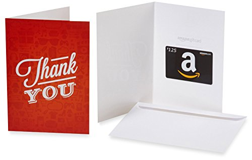 Amazon.com $125 Gift Card in a Greeting Card (Thank You Icons ()
