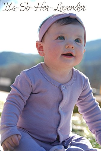 (L'oved Baby Gl'oved Sleeve Cotton Overall It's-So-Her Lavender 0-3M)