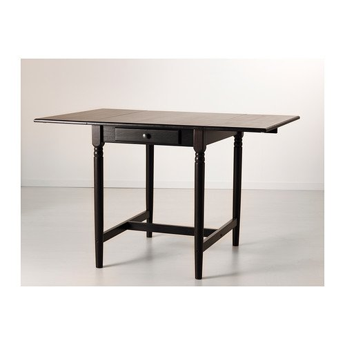 Ikea Ingatorp Drop Leaf Table Black Brown 5988117x78 Cm