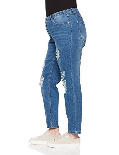 Bleached Vaqueros 92 Destroyeffekten para Mujer Untold Studio Mit Azul Skinny q87WtH