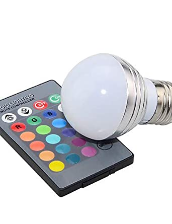 LPZSQ 3W E14 / GU10 / E27 Globe Bulbs 1 High Power LED 200 lm RGB Dimmable/Remote-Controlled/Decorative AC 85-265 V 1 pcs, e26/e27