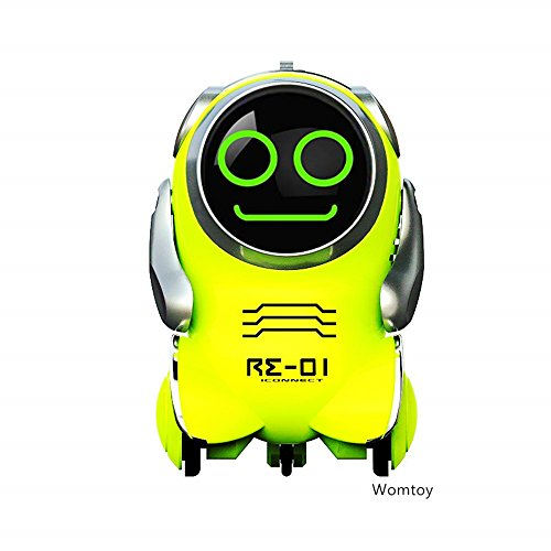 WomToy Robot Toy,Pocket RC Robot for Kids WTR3 Robot with App Ultrasonic Control,Glowing Face,Rotating,Dancing,Recording,Replying,Matching (Sonic Robot)