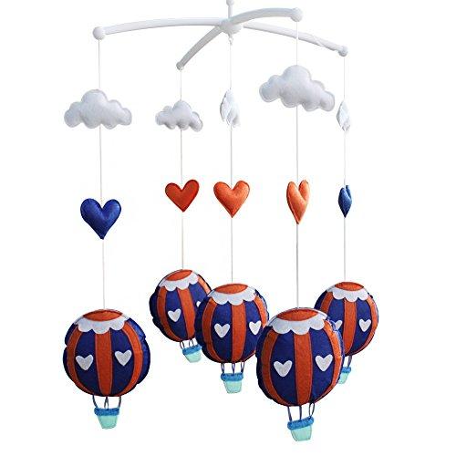 ([Tour Around] Creative Crib Musical Mobile, Hanging Toys, Hot-air Balloon)