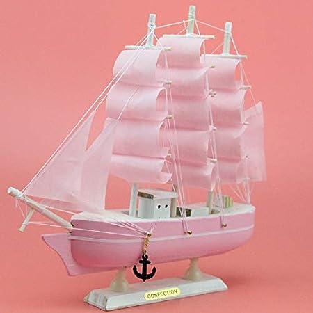 LKXZYX Decorativos Figuras Salon candelabros de Jardin Exterior Miniatura,Creativos Adornos de Madera para veleros Vela Suave Rosa 24cm de Alto 24cm: Amazon.es: Hogar