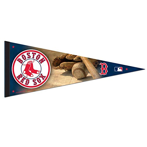 Bek Brands Major League Baseball Teams Flag Banner Pennant, 12 x 30 in, Soft and Durable (Boston Red Sox)