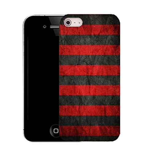 Mobile Case Mate IPhone 5 clip on Silicone Coque couverture case cover Pare-chocs + STYLET - red groove pattern (SILICON)