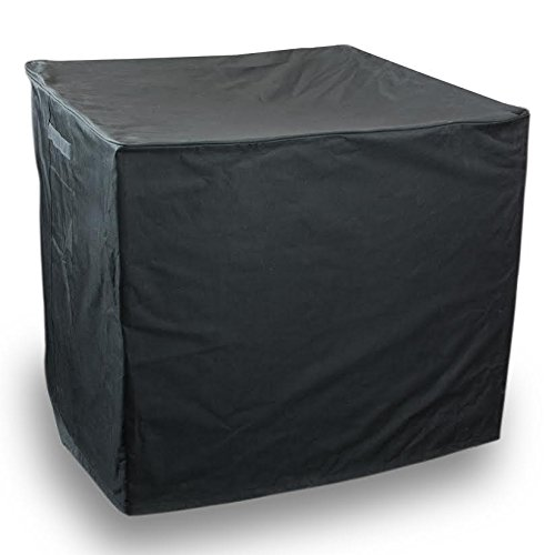 Quality Heavy Duty Square Air Conditioner Cover, Black, 34 X 30 Inch (Black, 34x34x30)