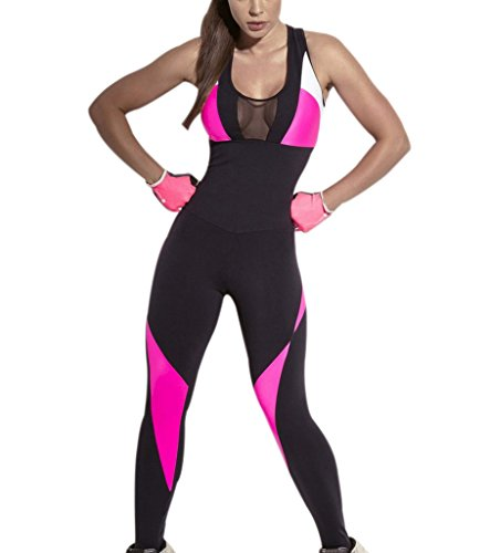 Womens Skinny Tight Bandage Sport Jumpsuits Fitness Rompers Black Small