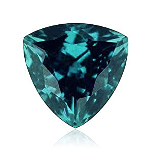 Mysticdrop 0.25-0.41 Cts of 4x4x4 mm AAA Trillion (1 pc) Loose Russian Lab Created Alexandrite Gemstone