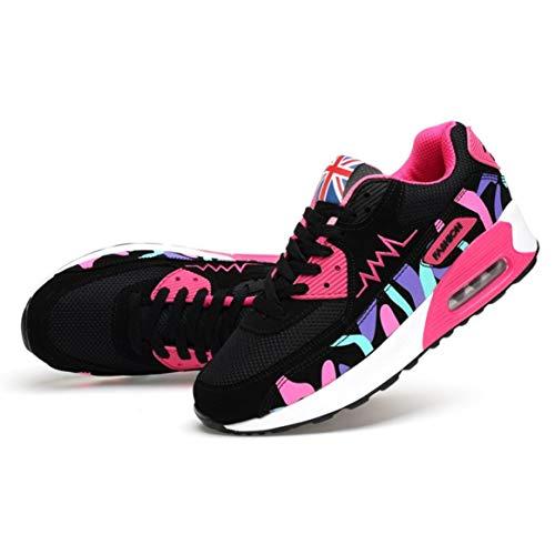 Zapatillas Que Malla Zapatos Aire Deporte la recorren la Deporte de Aptitud Mujeres de del Las de Correr Planos de Recorrido Zapatos Zapatillas Manera del de para de Respirables qwCAA8