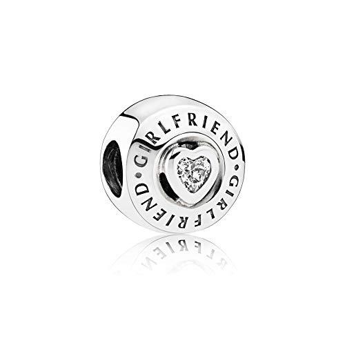 PANDORA Charm, 2 Bezel-Set Heart-Shaped, Engravings & Clear CZ 792145CZ - Clear Bezel Set