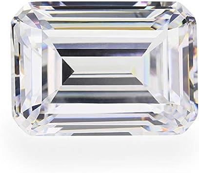 CZ 6A Grade Octagon Shape Emerald DF White Color Cubic Zirconia Artificial Loose Gemstones 10pcs 3x5mm