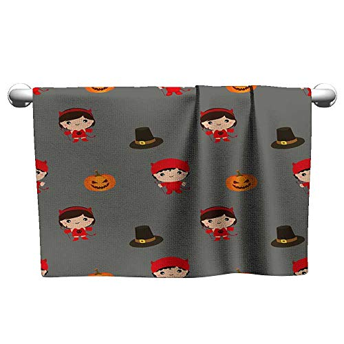 Tankcsard Personalized Hand Towels Halloween Pattern Kid Costume Pattern,Beach Towel for Toddler]()
