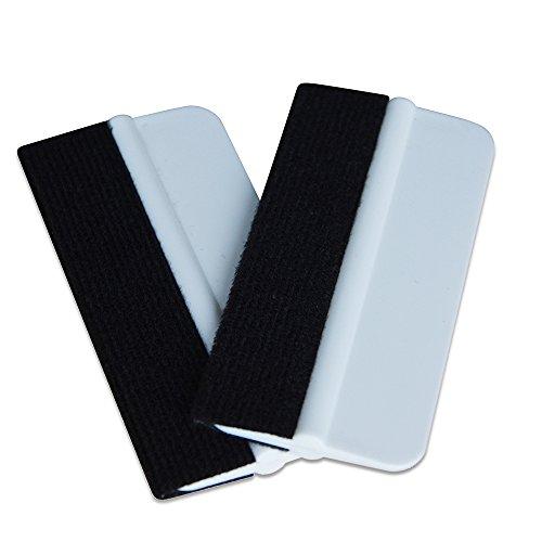 Ehdis® 2PCS Soft Vinyl Wrap Tool Mini Window Tint Film Installing Squeegee Vinyl Film Applicator Scraper for Vinyl Wraps & Decals with Black Fabric Felt