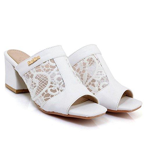 Sandals Women Mules Open White Toe TAOFFEN TBvqwFn