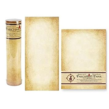 parchment paper aged stationery scroll paper amazon ca office