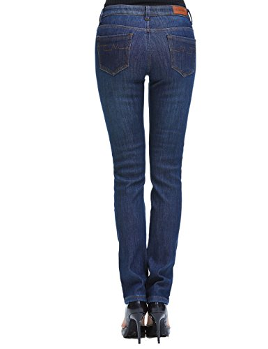 Camii Mia Women's Thick Thermal Slim Fit Jean Pants (W30 x L32, Blue Grey (new size)) by Camii Mia (Image #1)