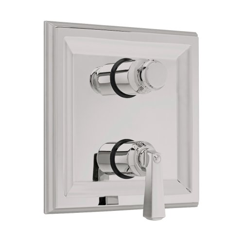 American Standard T555.740.295 Town Square Two Handle Thermostat Trim Kit with Separate Volume Control, Metal Lever Handles, Satin Nickel