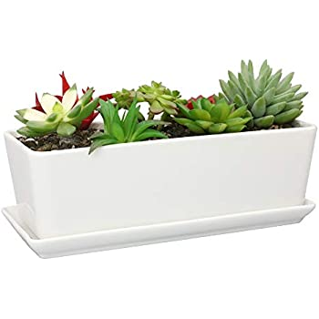 Amazon Com 11 1 Inch Long Rectangle White Ceramic